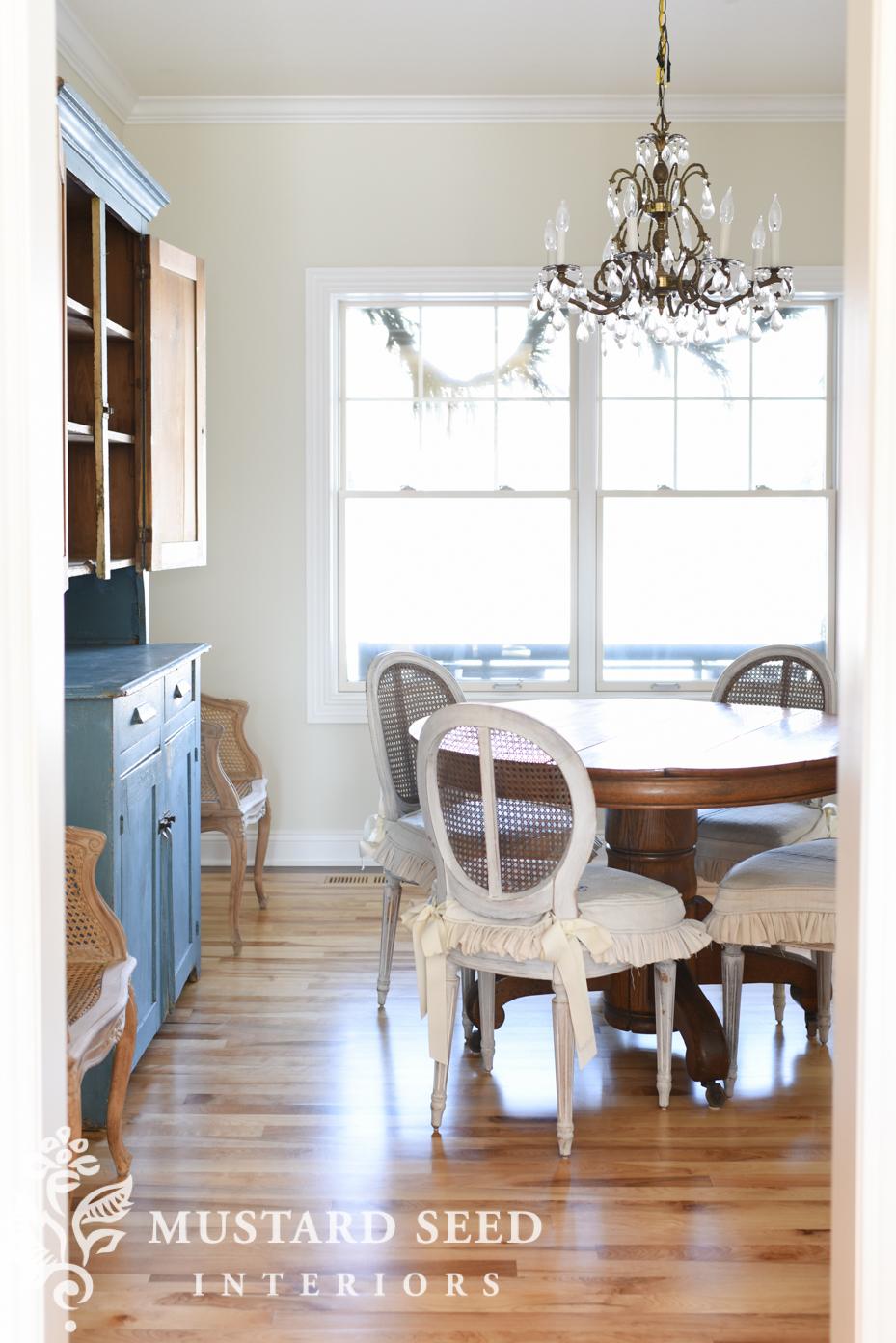 dining room makeover progress | miss mustard seed