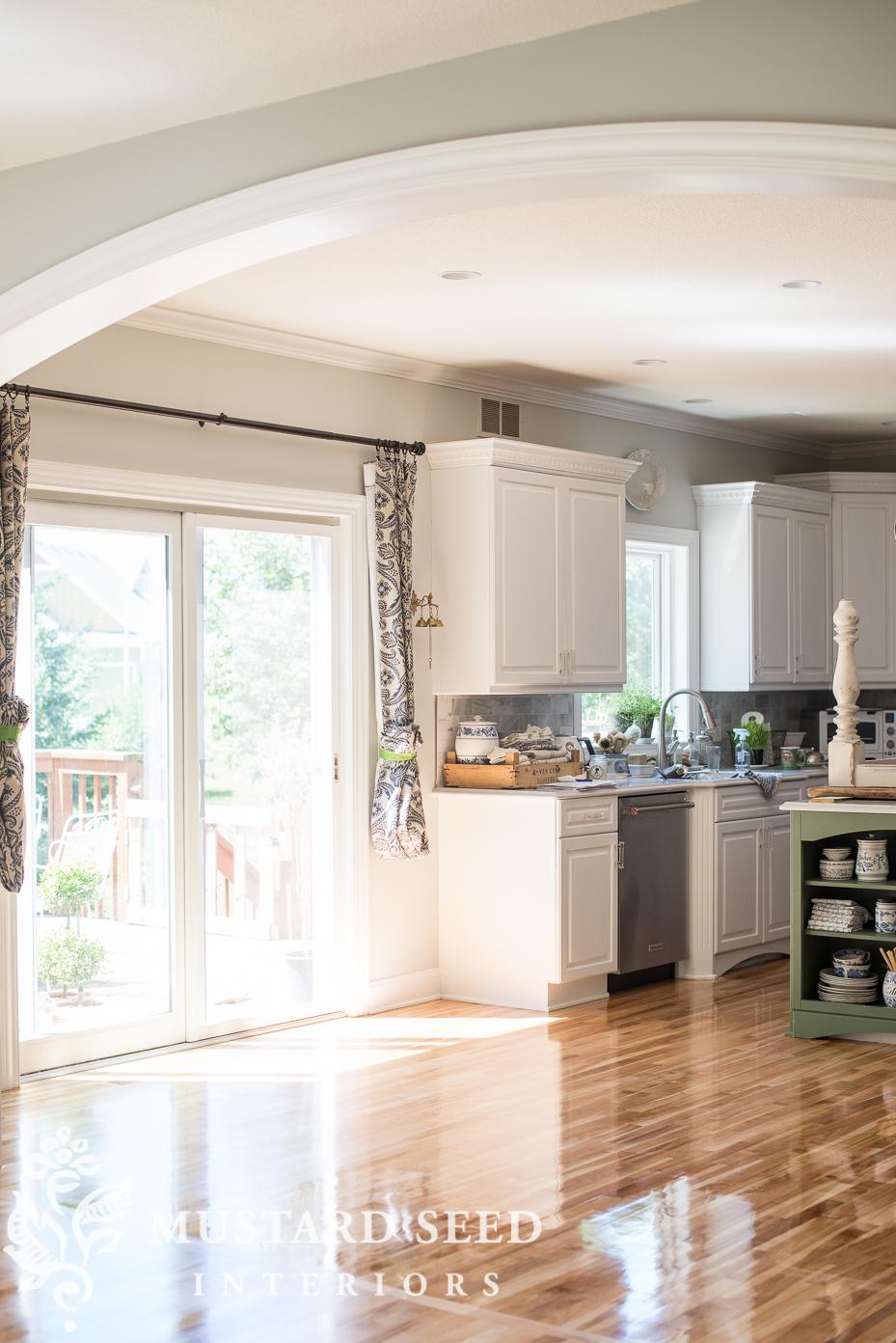 refinishing wood kitchen floors | miss mustard seed