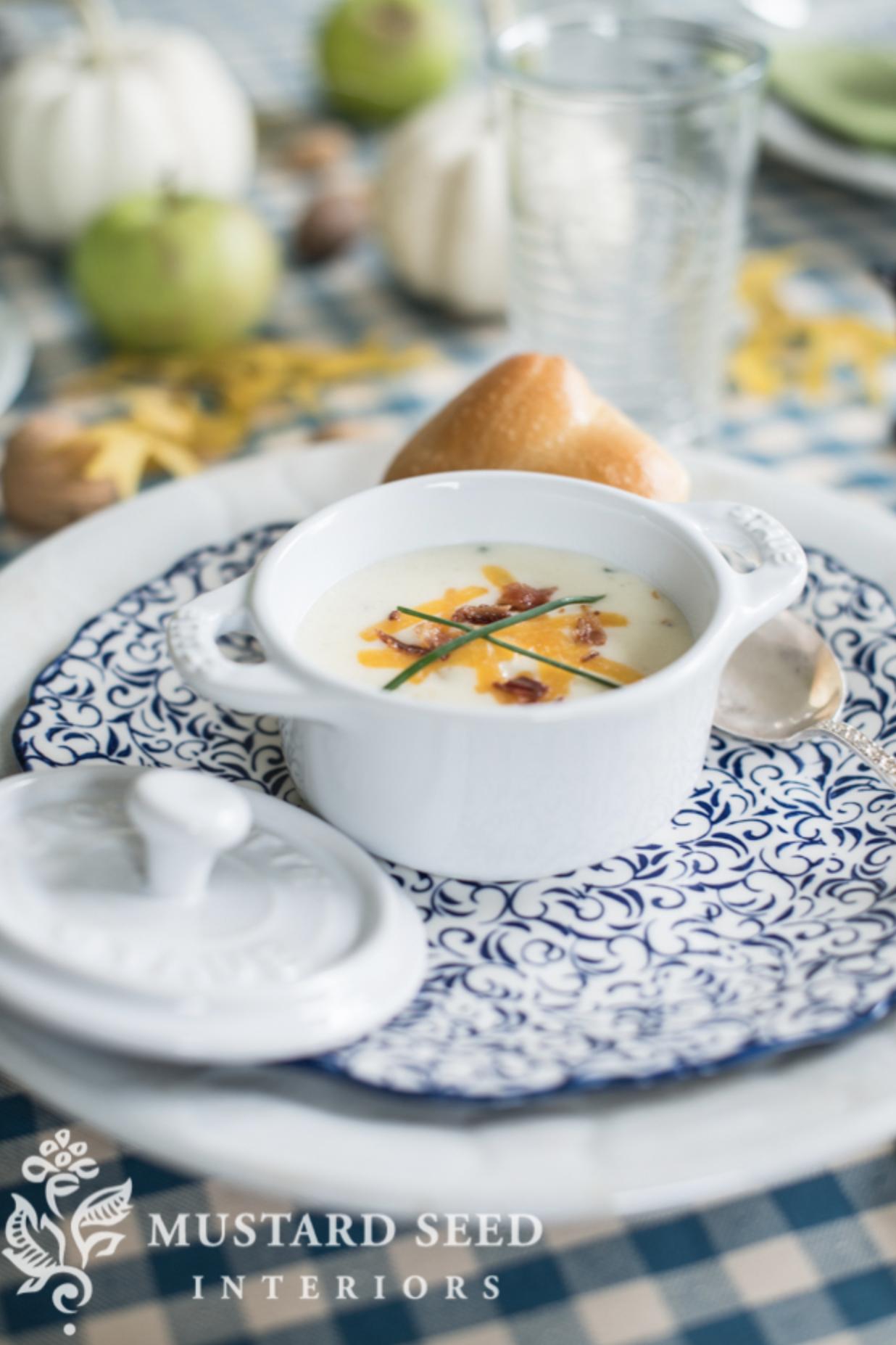 baked potato soup recipe   miss mustard seed