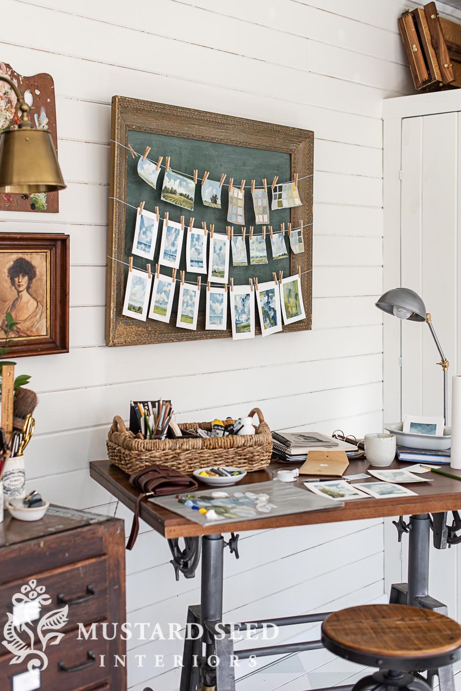 art studio   mixed media painting   miss mustard seed