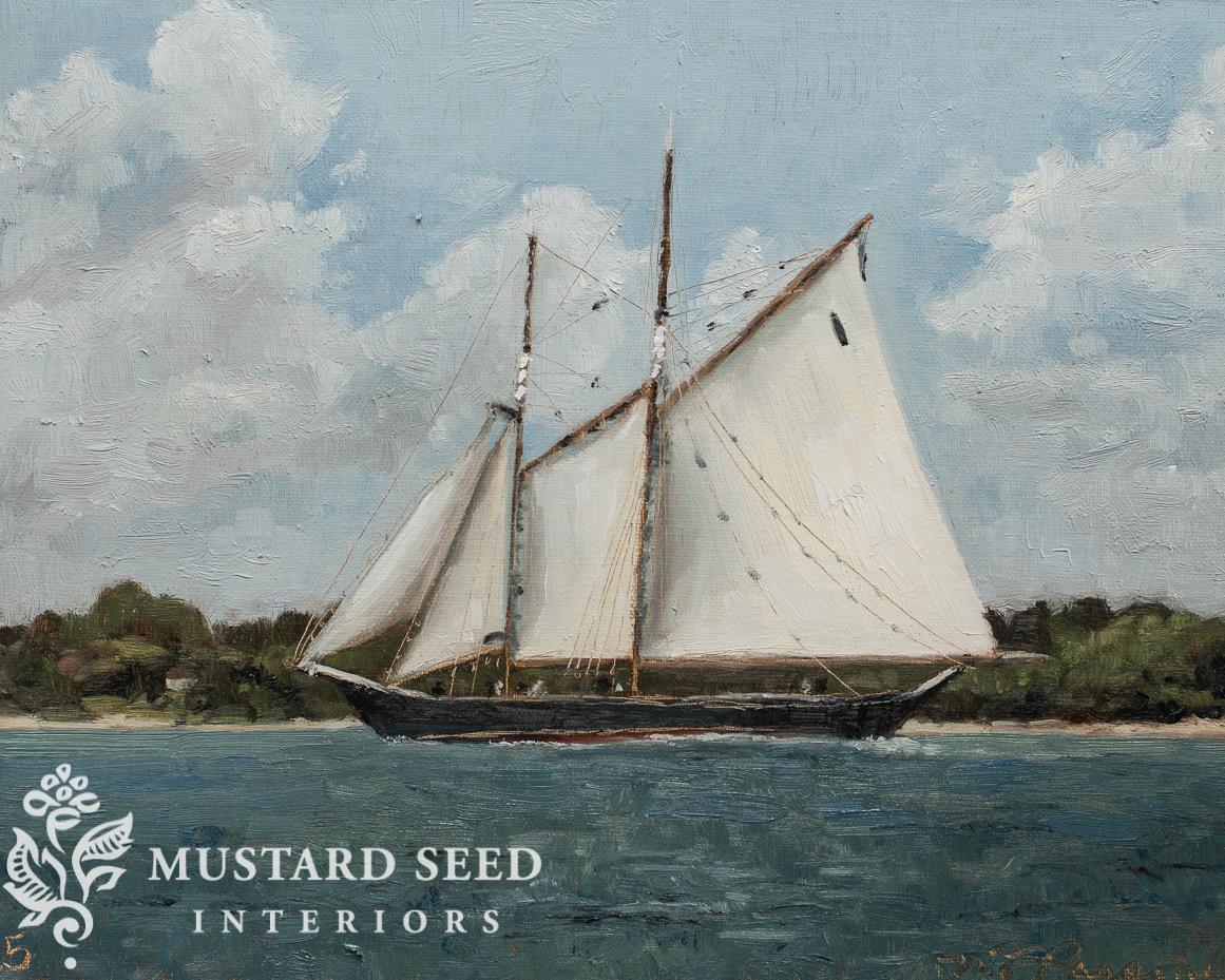 blue nose II schooner painting | black Friday art sale | Marian Parsons fine art | Miss mustard seed