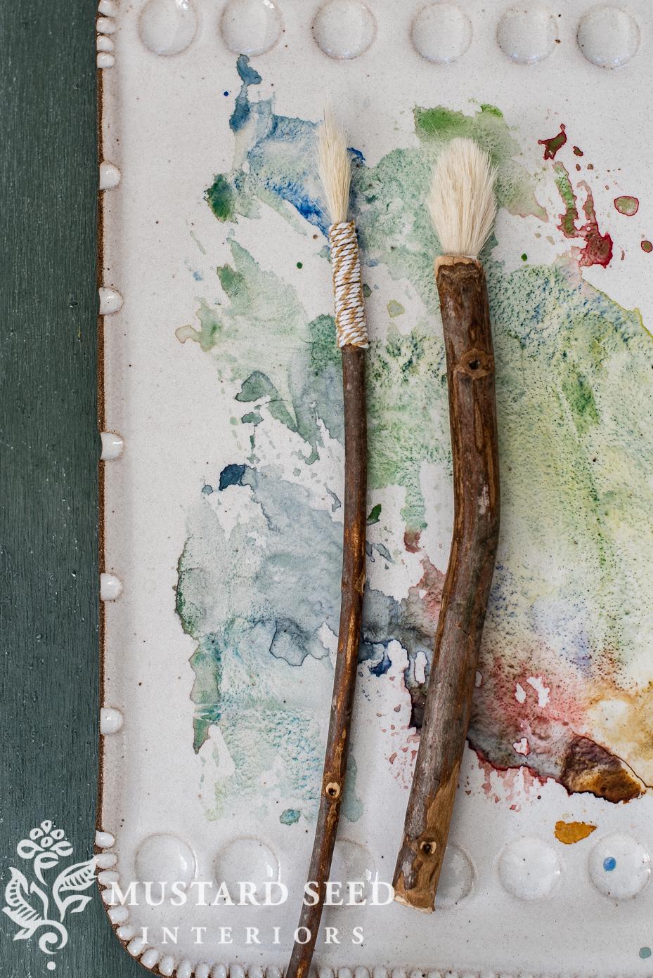 handmade brushes and pens   organic artist   miss mustard seed