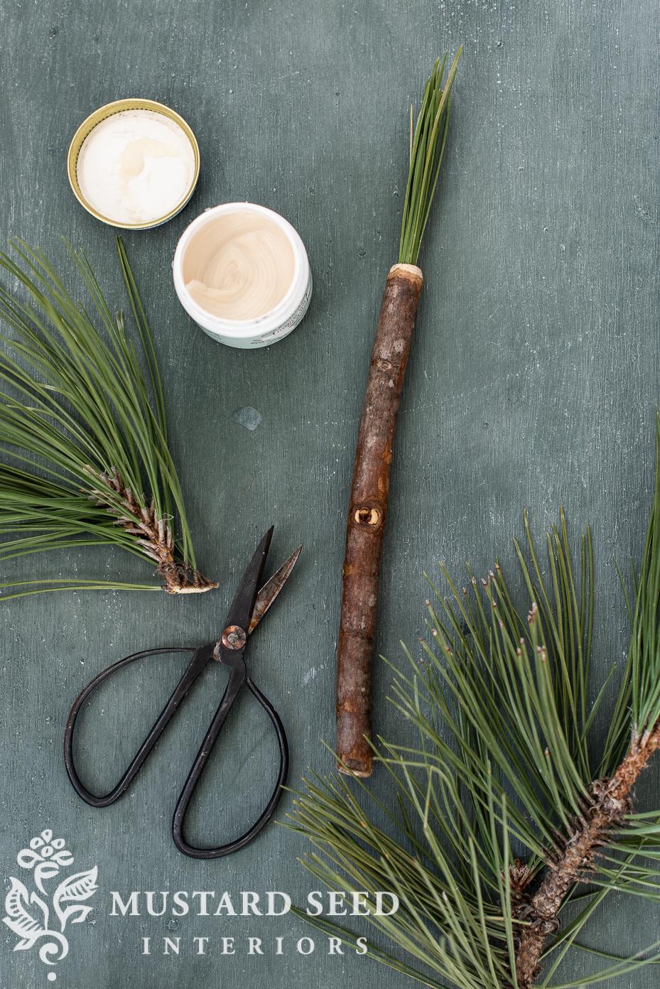 handmade pine needle brush | organic artist | miss mustard seed