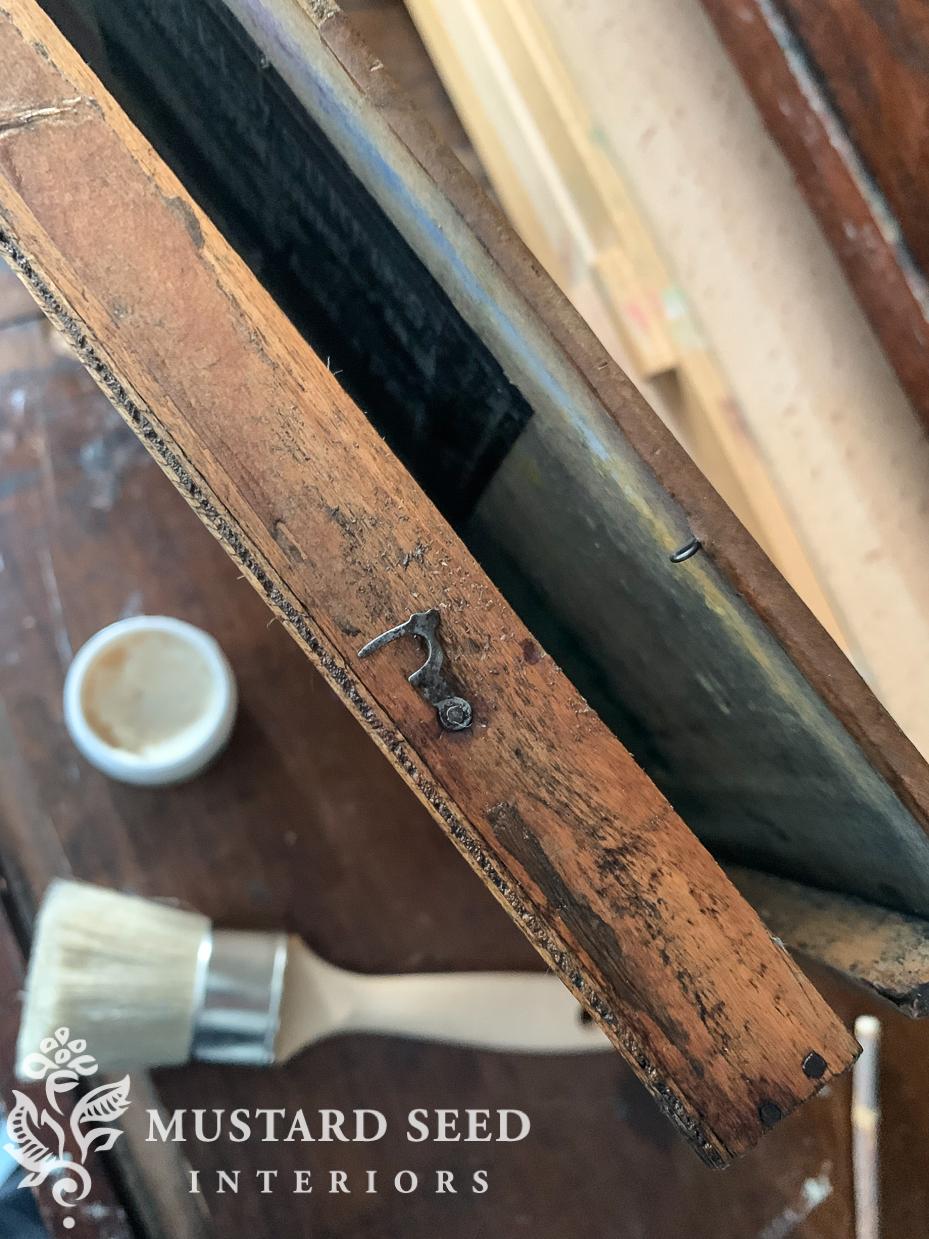 waxing antique pastel box | furniture wax on wood | miss mustard seed