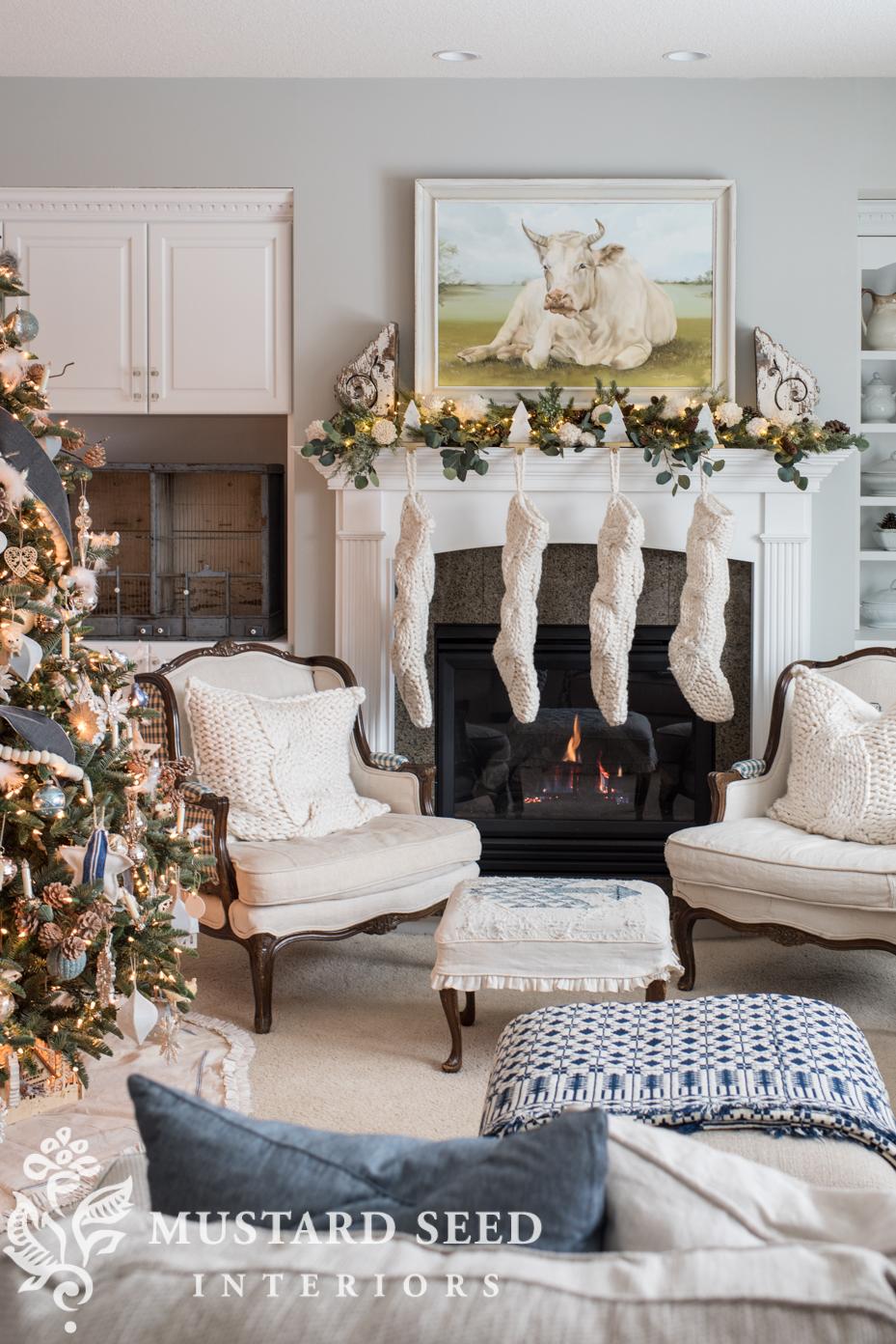 living room christmas   holiday decor   miss mustard seed