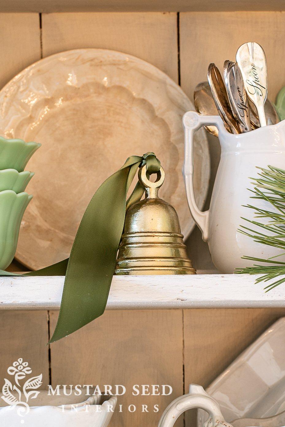 budget christmas decorating | brass bells | miss mustard seed
