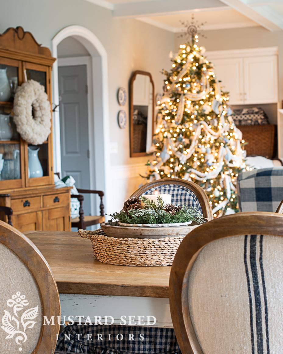 Christmas kitchen   layered centerpiece   miss mustard seed