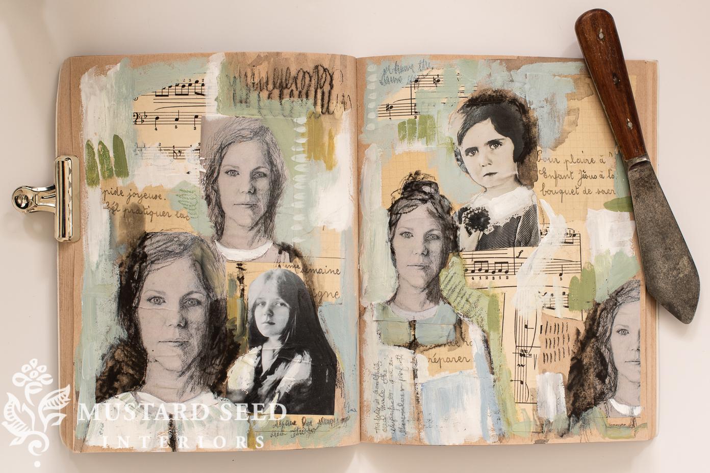 mixed media sketchbook | miss mustard seed