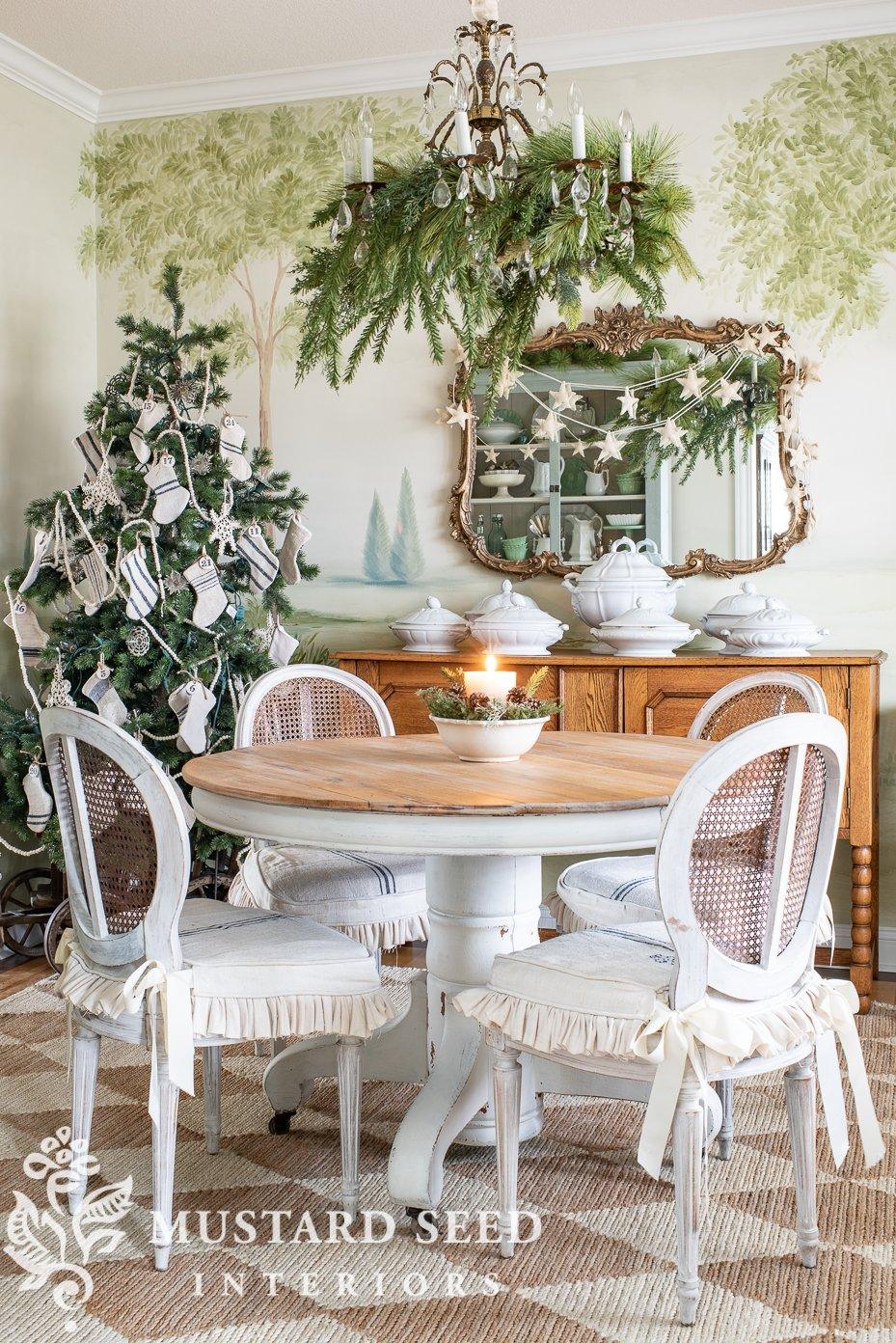 christmas dining room | decorating ideas | miss mustard seed