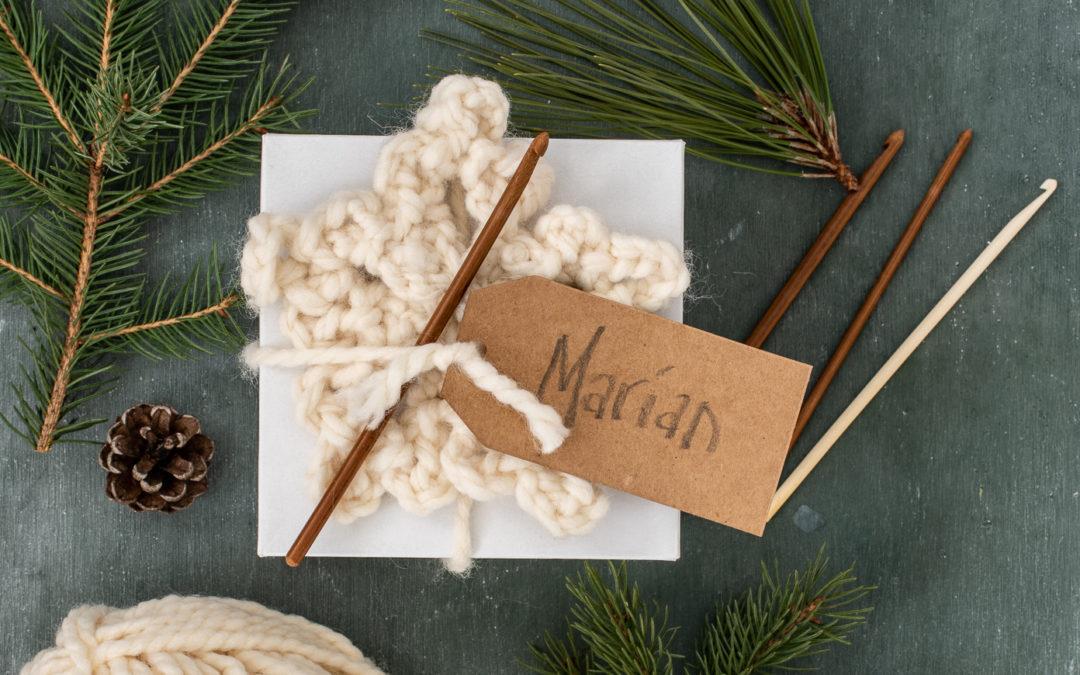easy chunky crochet snowflake tutorial