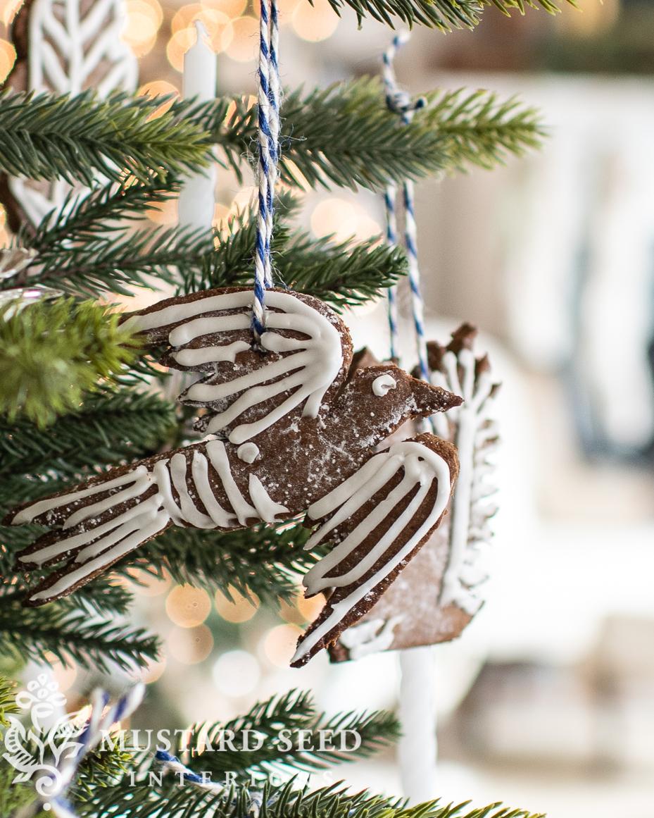 Christmas kitchen   gingerbread bird ornament   miss mustard seed