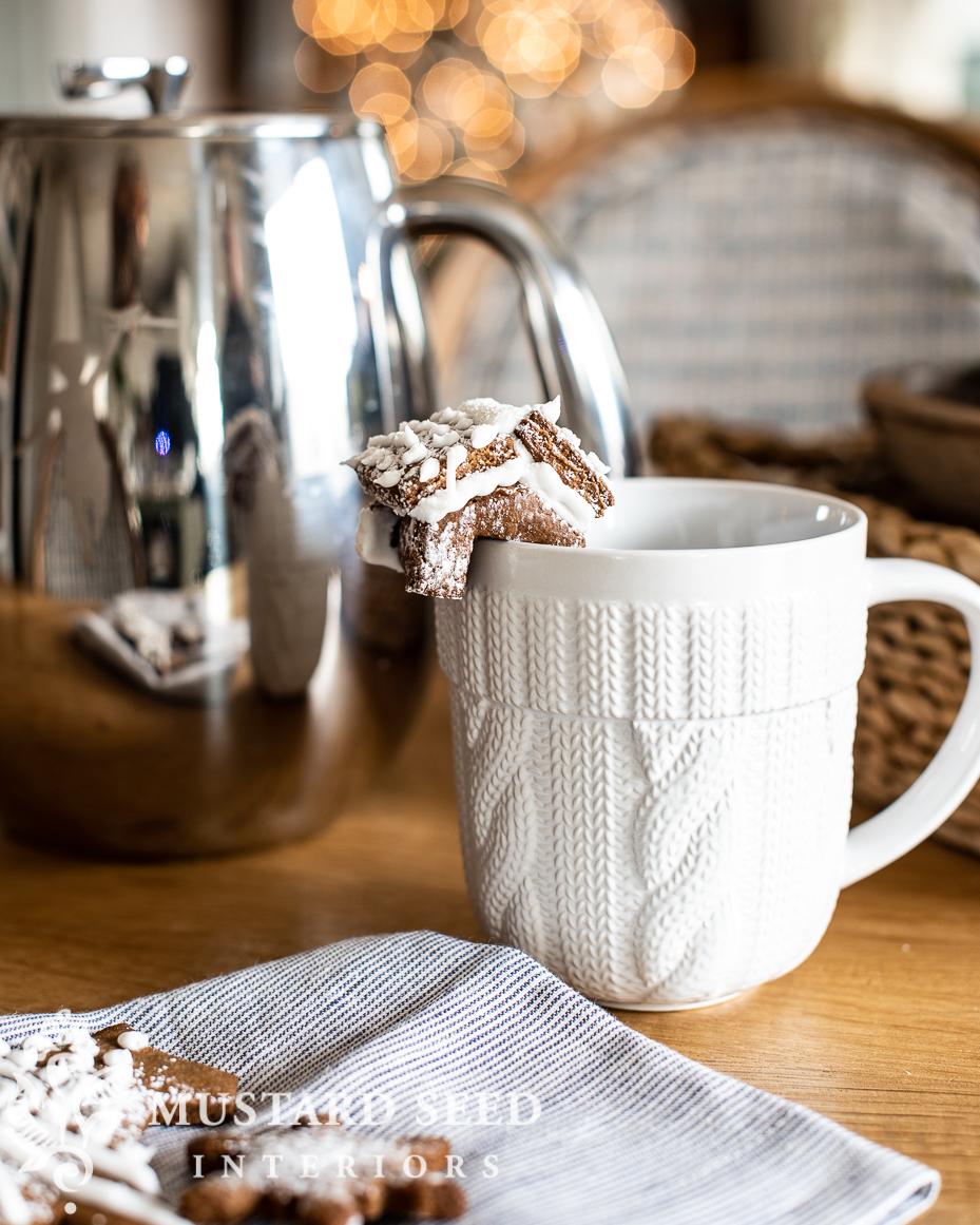mini gingerbread house on mug | miss mustard seed