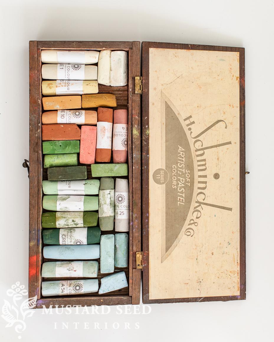 schmincke vintage pastel box   miss mustard seed