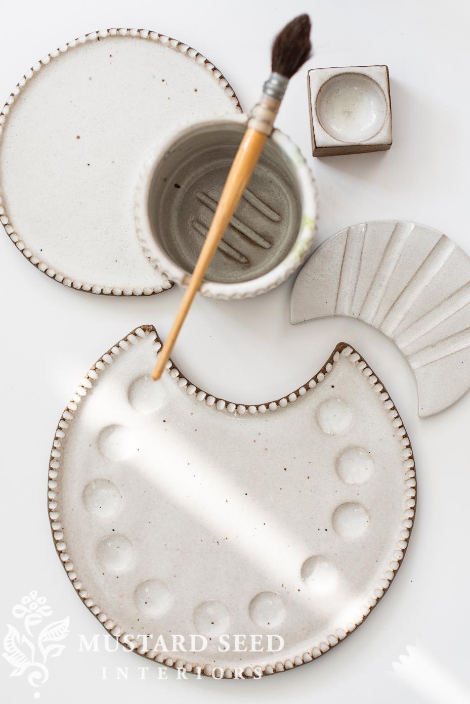 sylvan clay works moon palette set   miss mustard seed