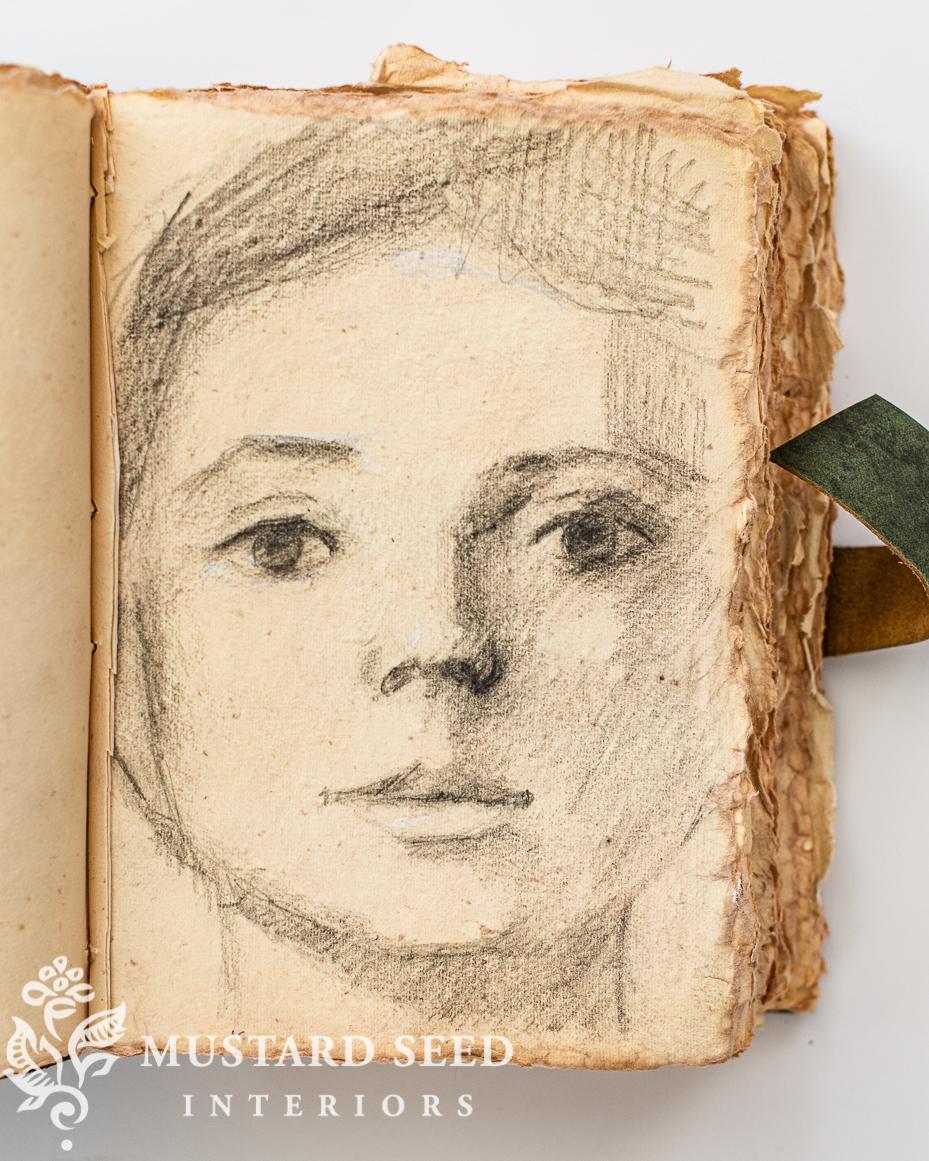 sketchbooks   graphite portrait study   miss mustard seed