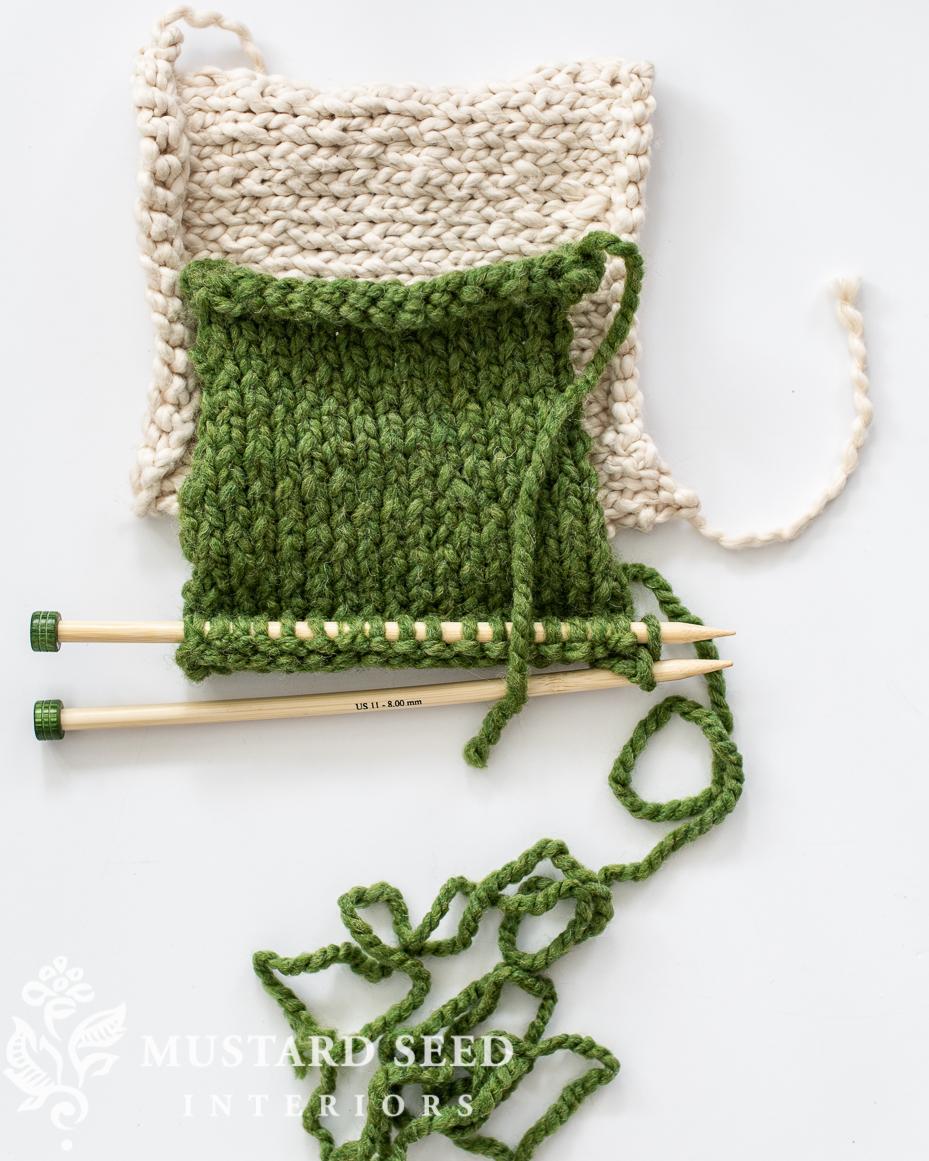 beginner knitting   miss mustard seed