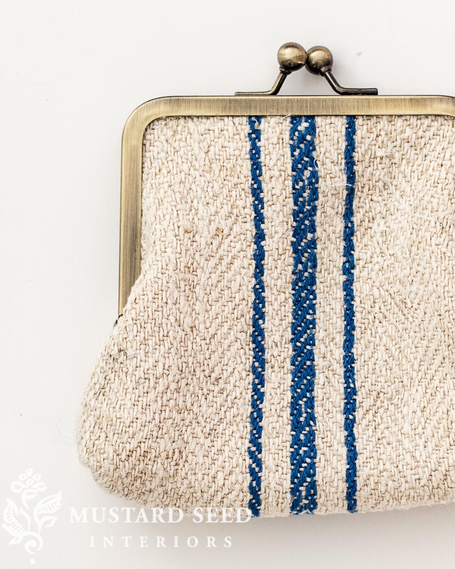 grain sack change purse   miss mustard seed