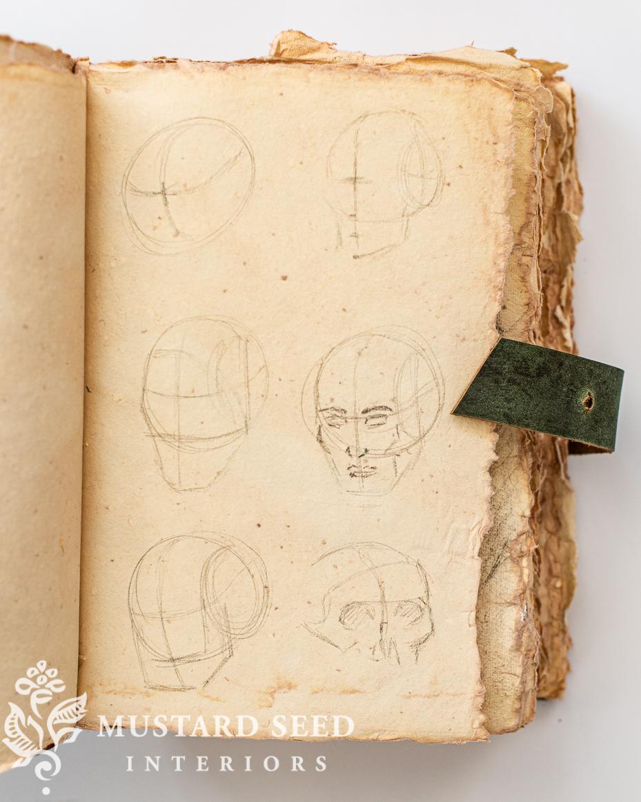 vintage style sketchbook   miss mustard seed
