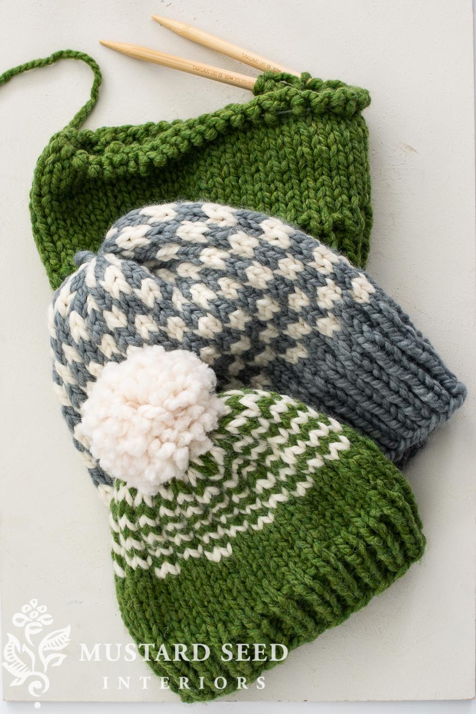beginner knitting resources | simple hat | miss mustard seed