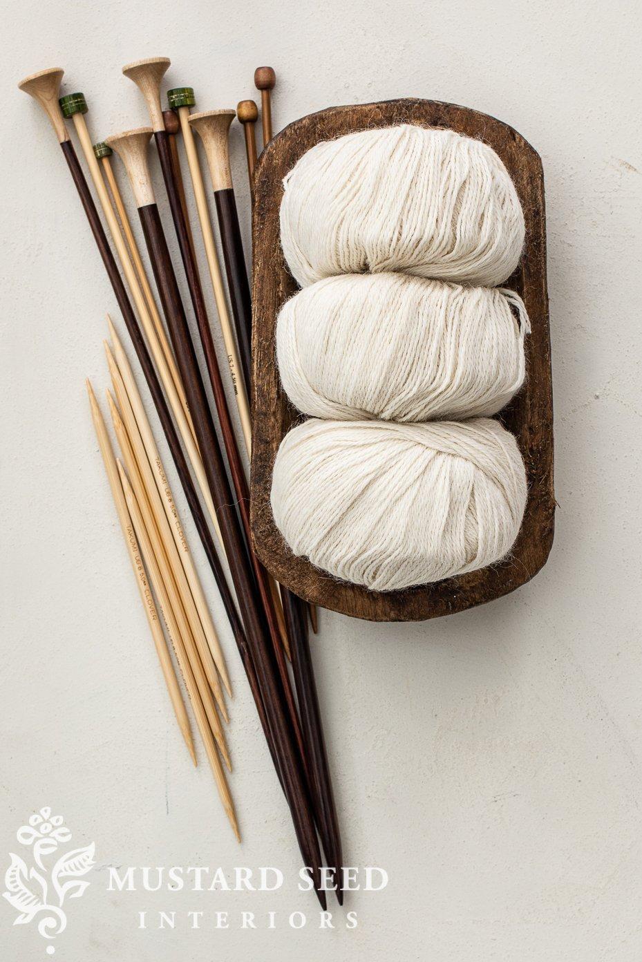 alpaca fingering yarn | beginner knitting | miss mustard seed