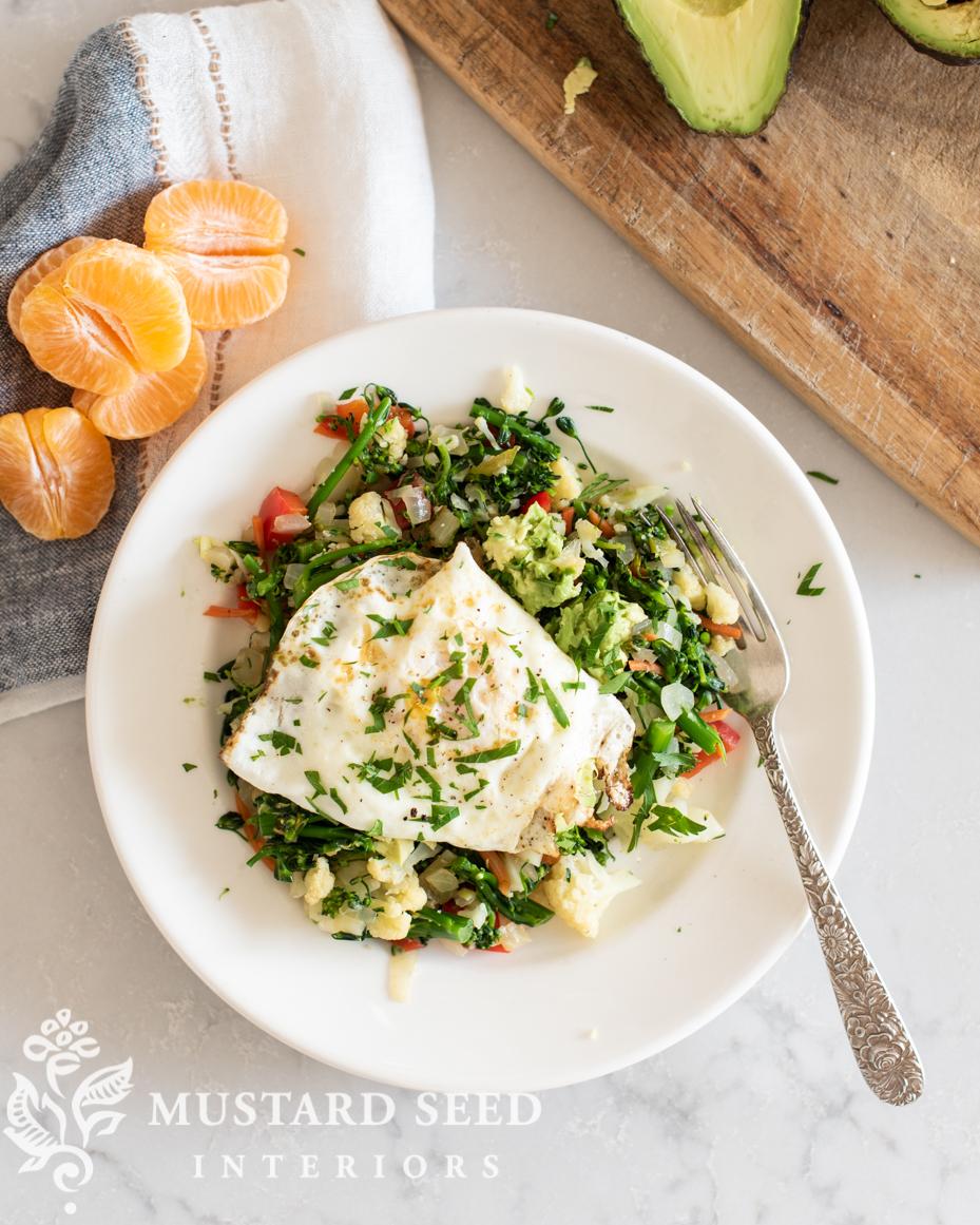 breakfast vegetable & egg stir fry recipe | miss mustard seed