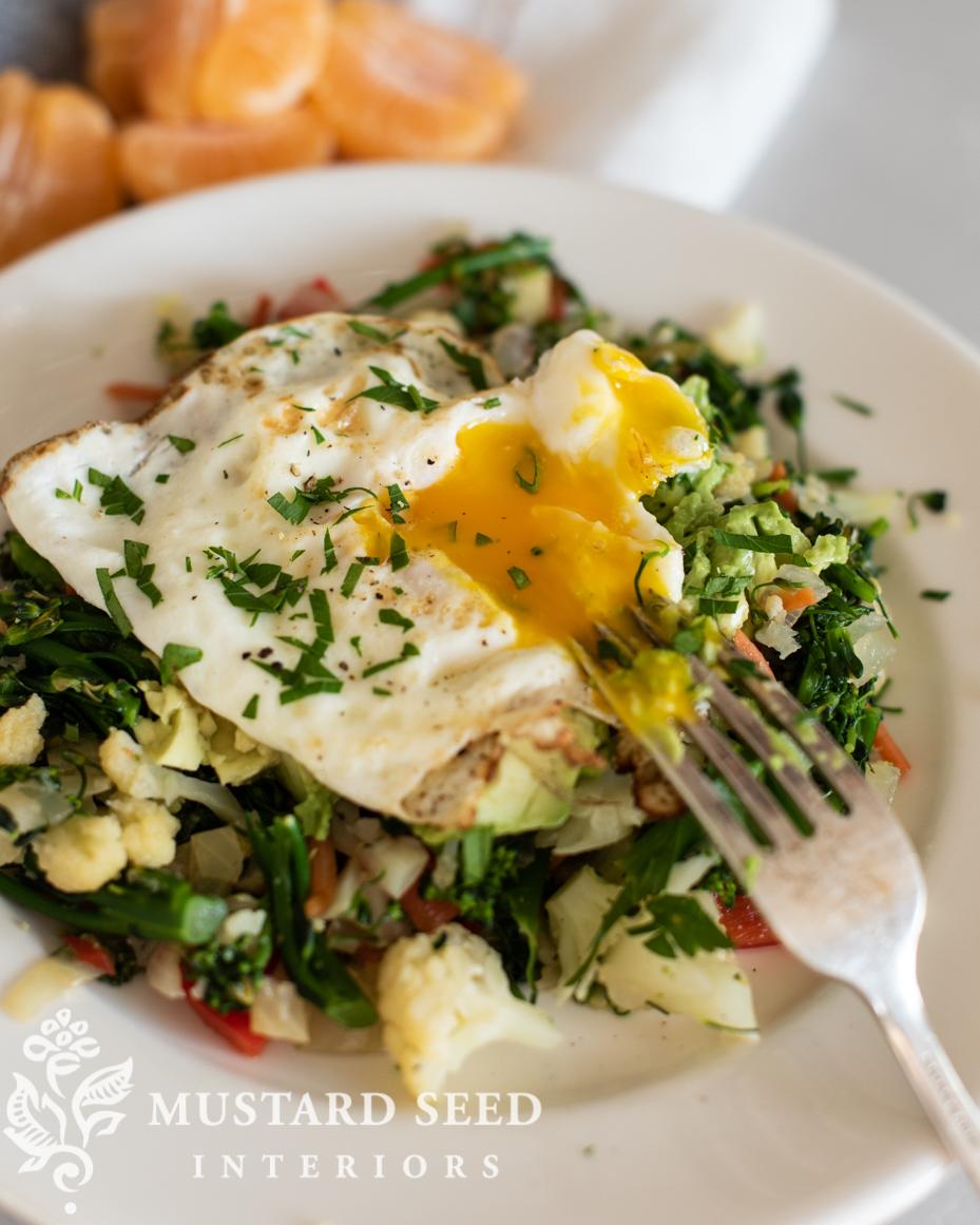 breakfast vegetable & egg stir fry recipe   miss mustard seed