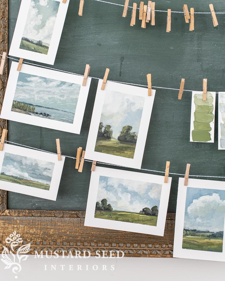 mini landscape oil paintings | Miss mustard seed