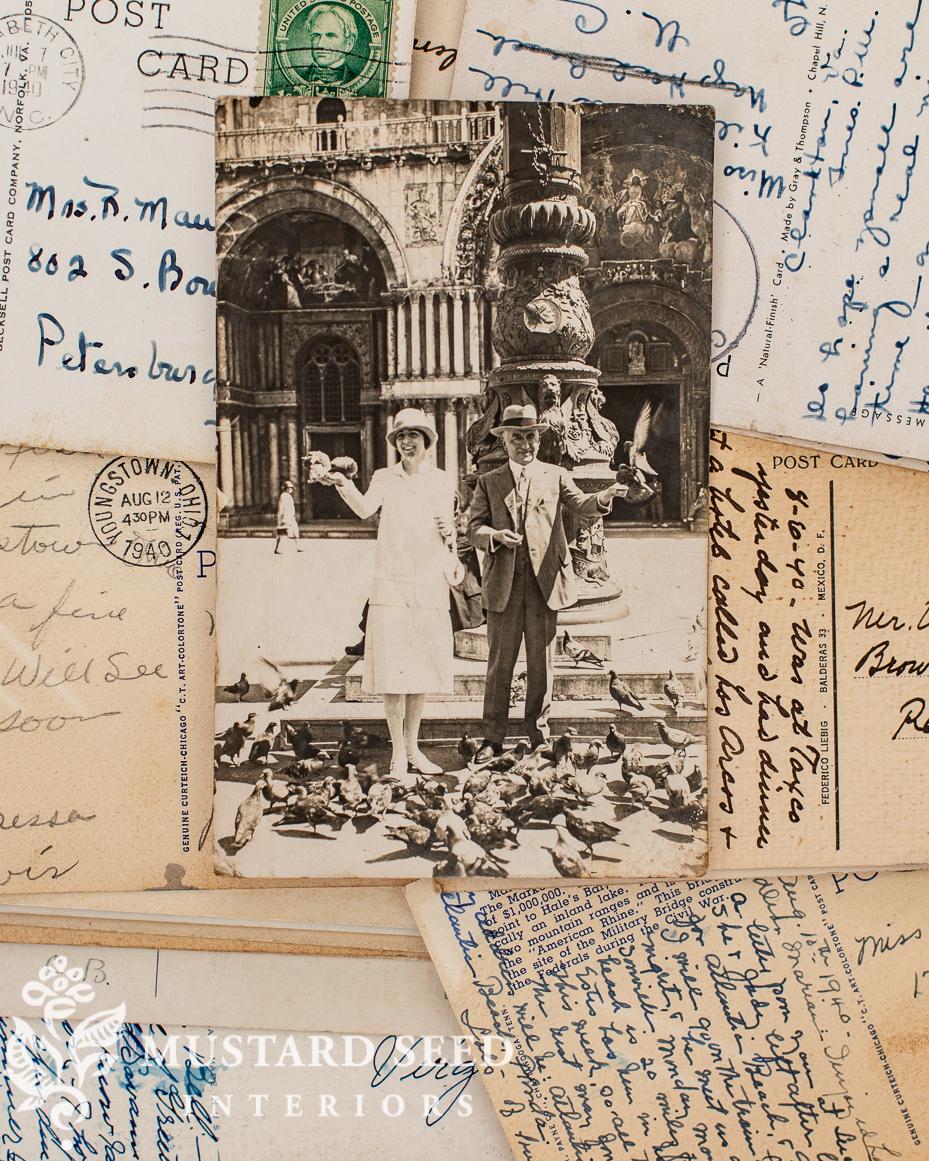 antique Venice postcards | miss mustard seed