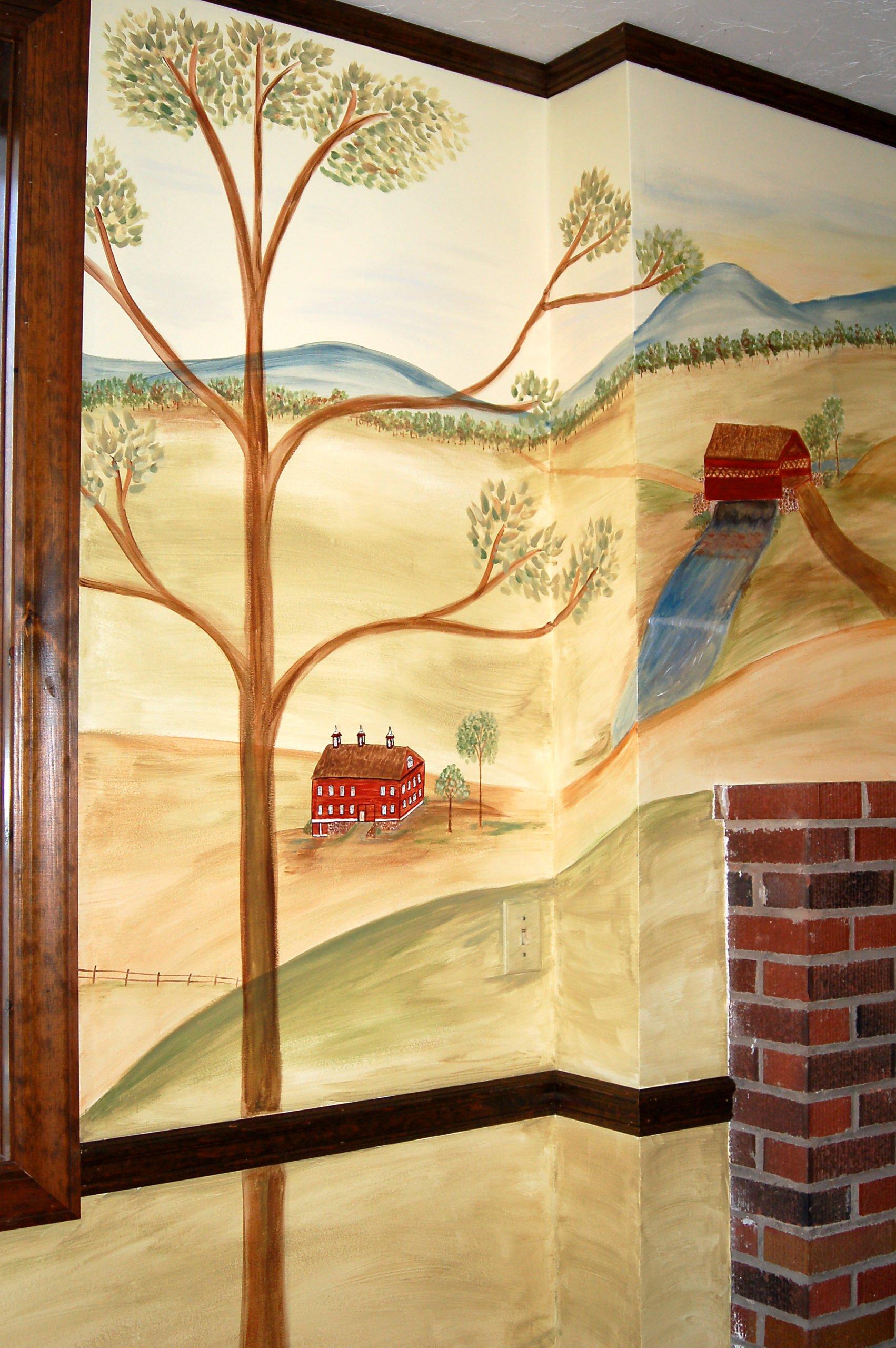 rufus porter style mural | civil war hospital | miss mustard seed