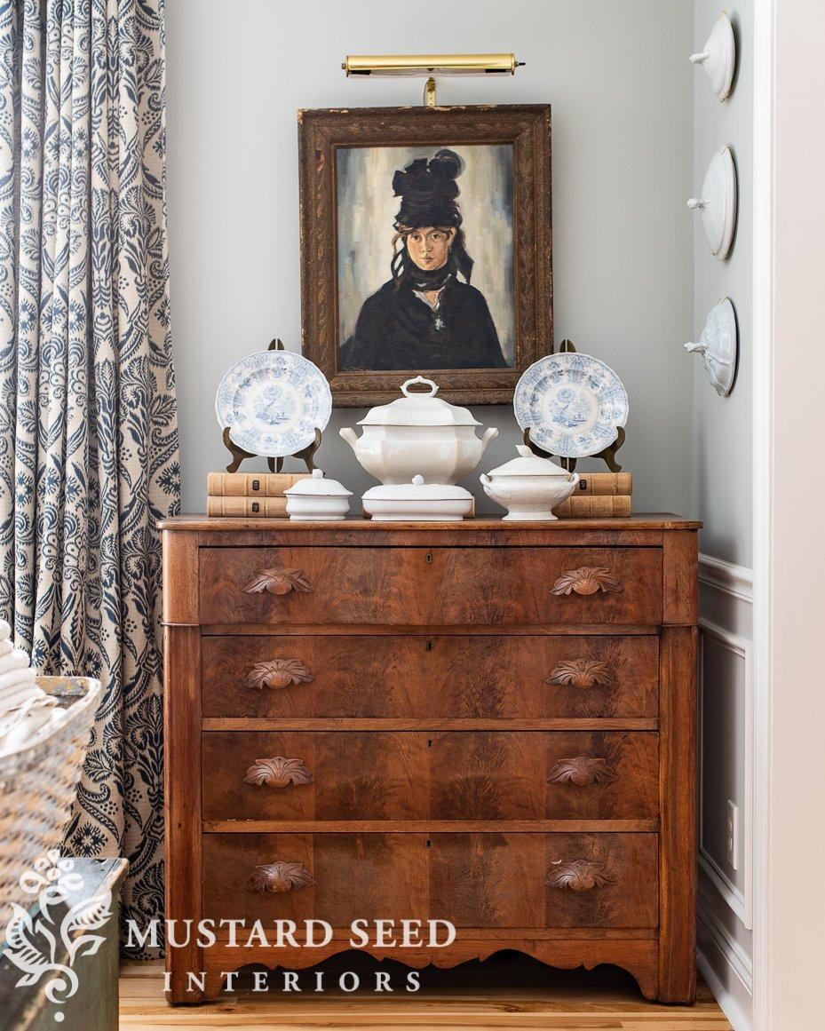 organizing process | antique dresser | miss mustard seed