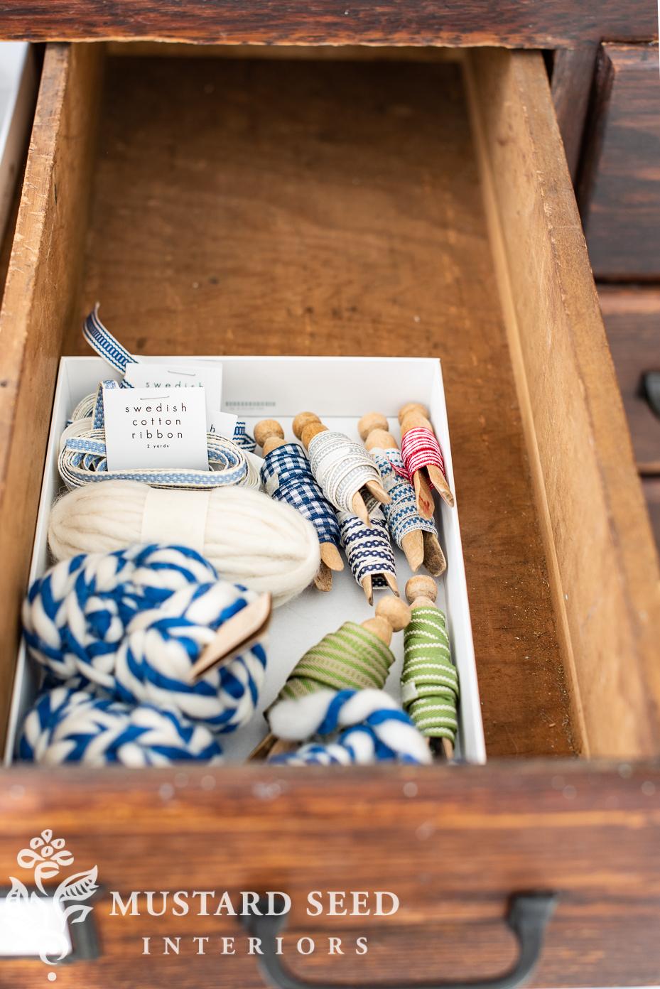 crafting supplies | organizing | miss mustard seed