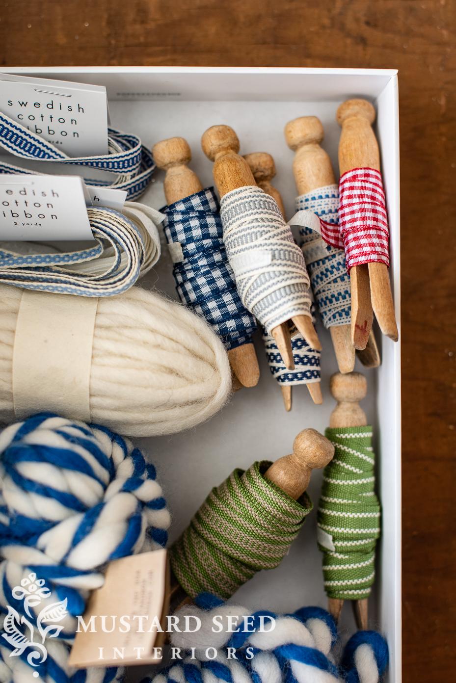 ribbon and yarn | organizing | miss mustard seed