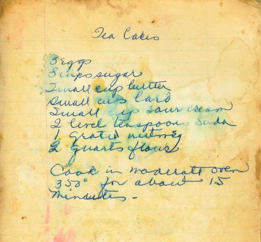 Tea Cakes Recipe | miss mustard seed