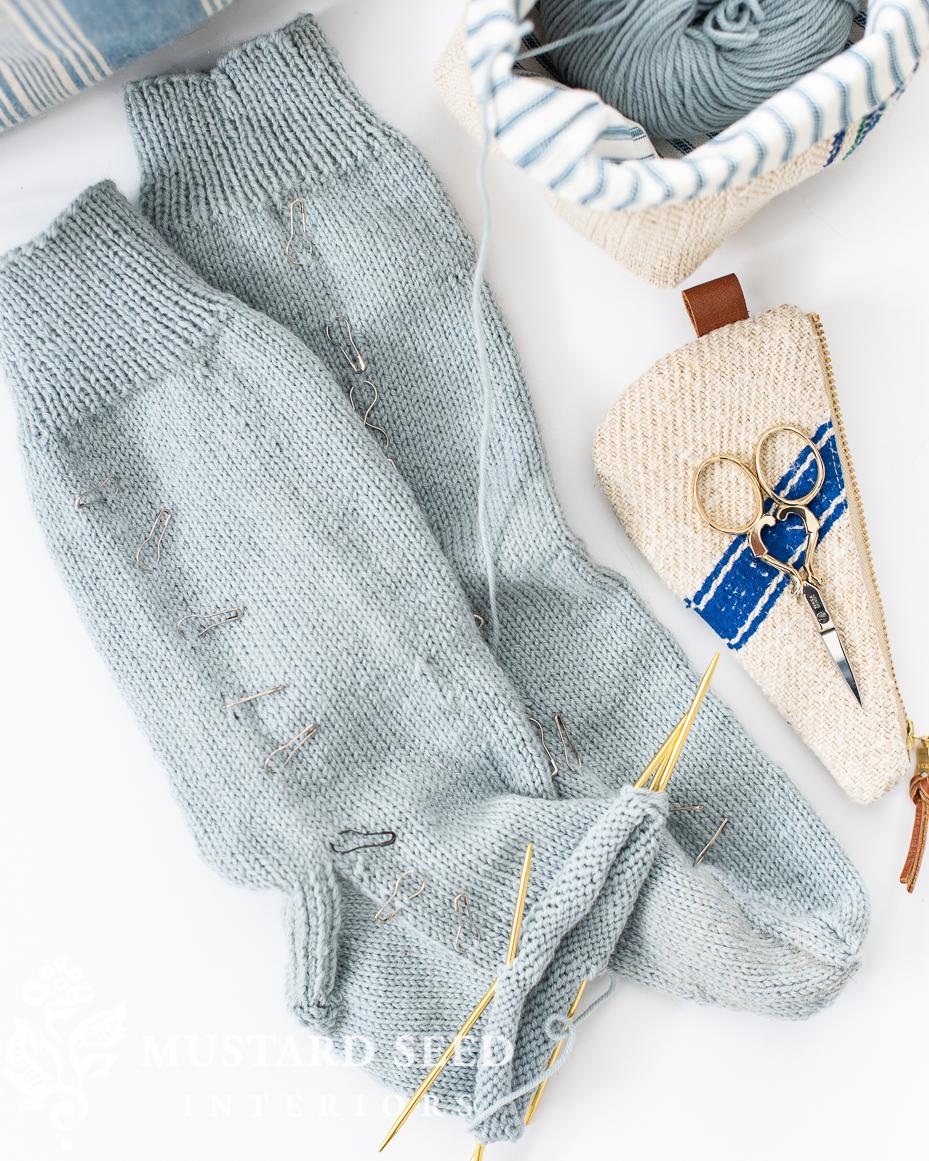 knitting socks for beginners | miss mustard seed