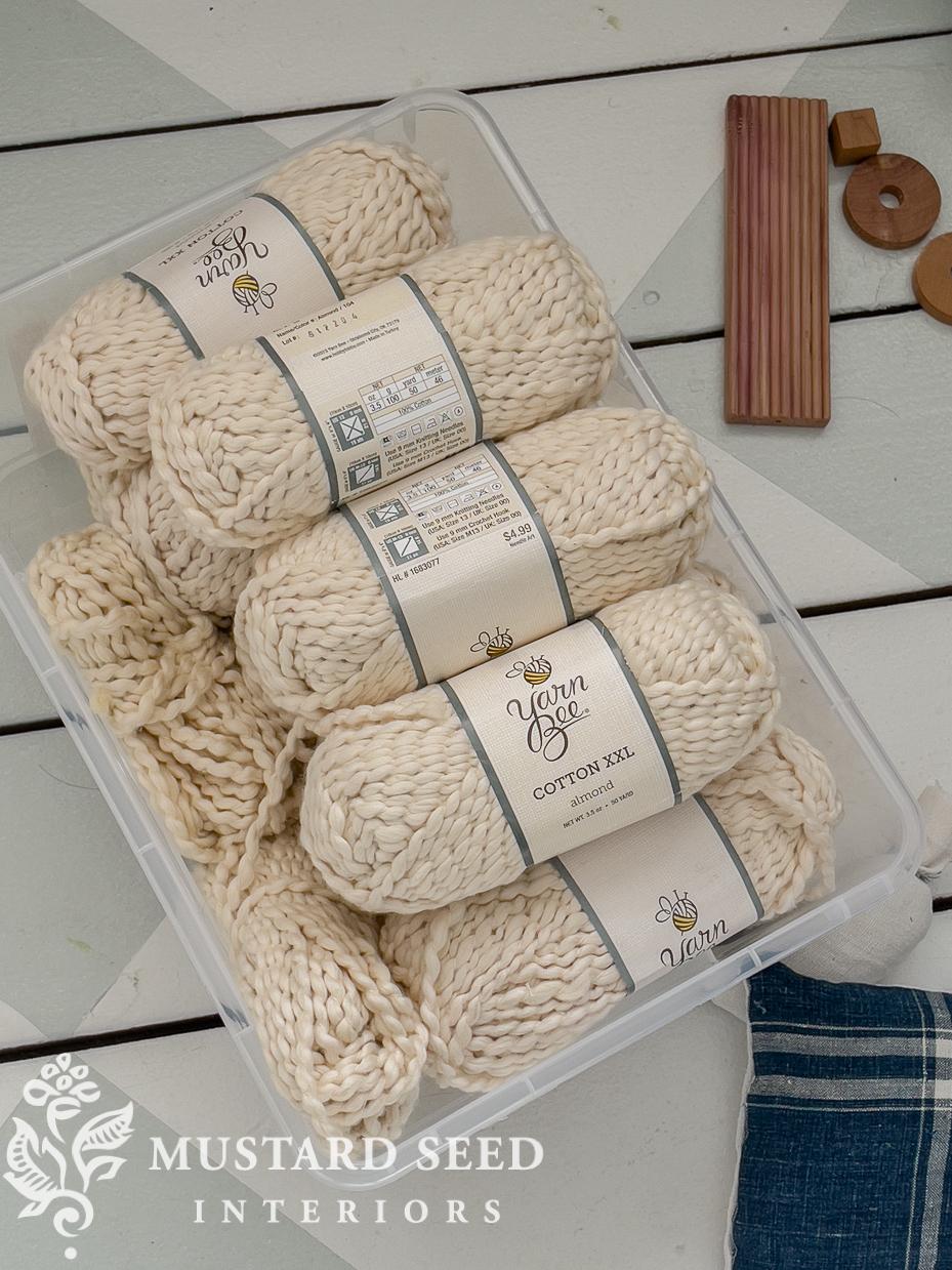 studio organization   storing yarn   miss mustard seed
