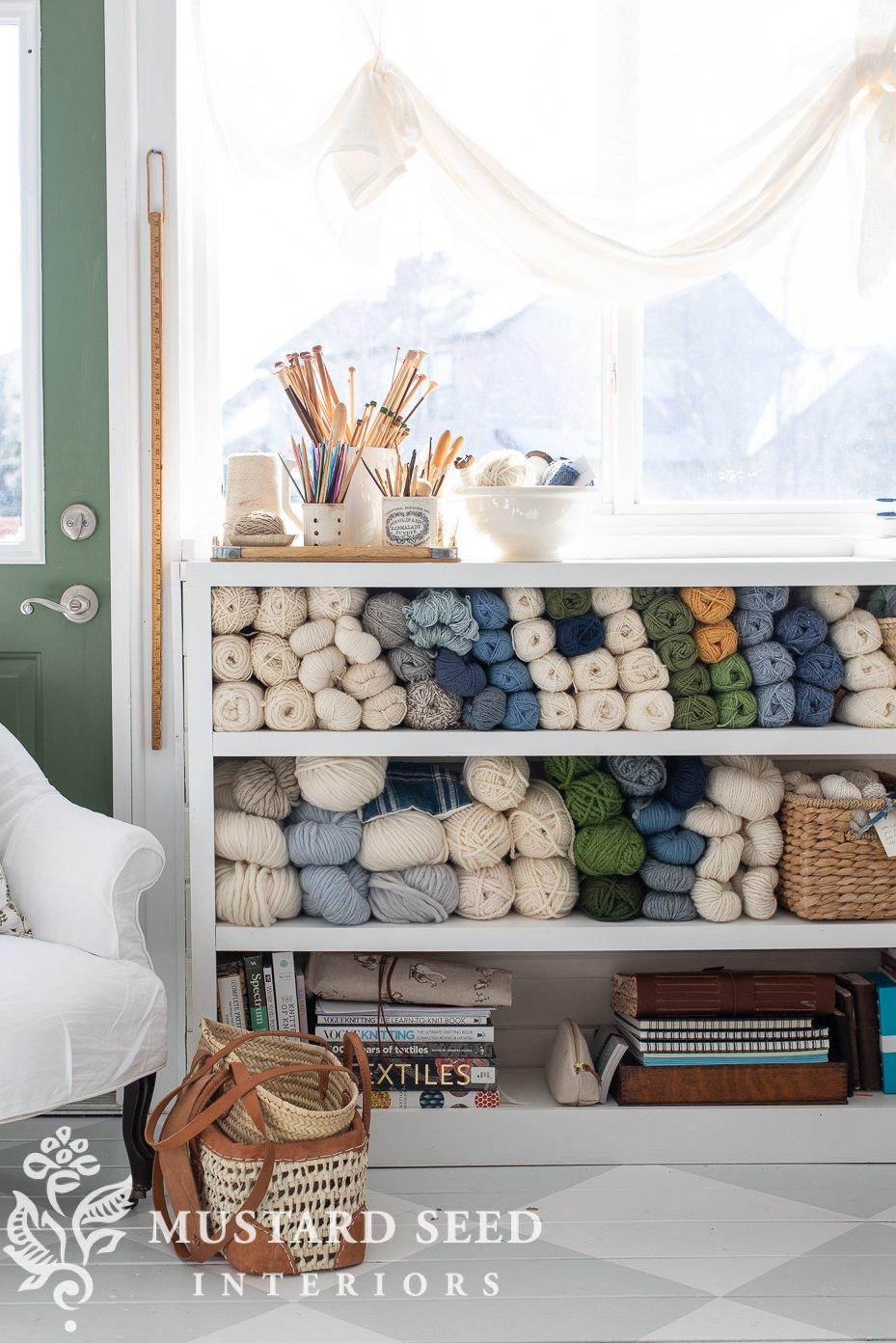 organizing process | yarn storage | art studio | miss mustard seed