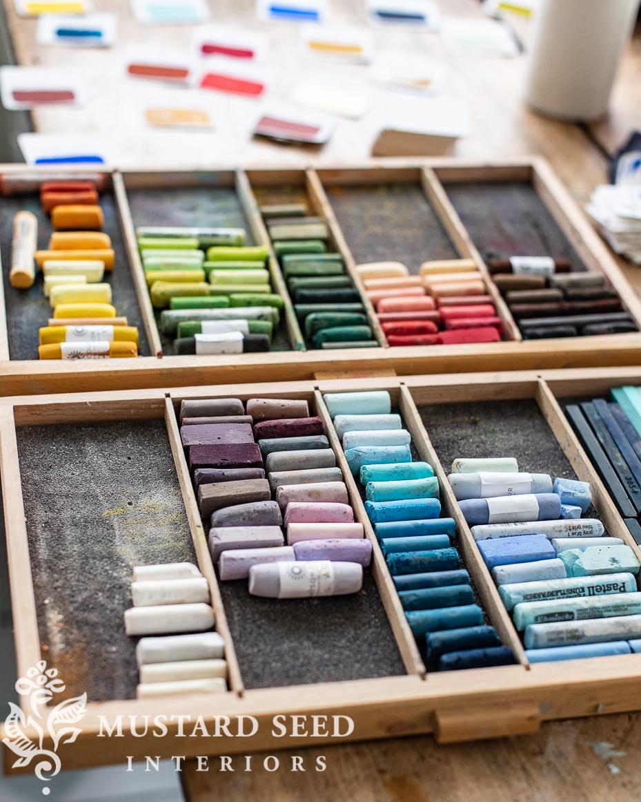 organizing an art studio | soft pastels | miss mustard seed