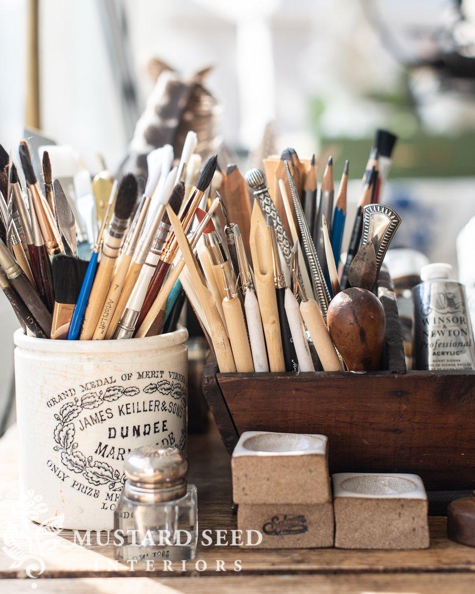 organizing an art studio | miss mustard seed