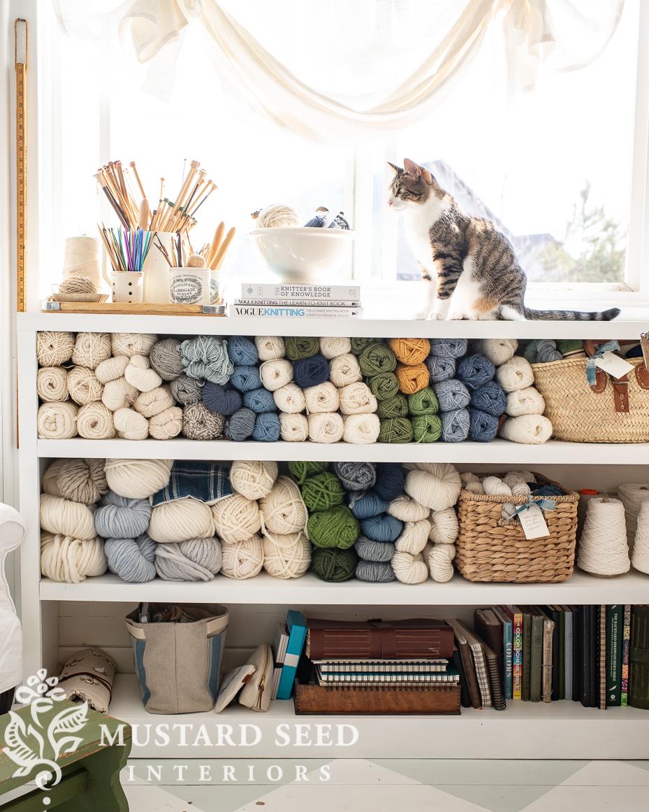 yarn storage ideas | art studio | miss mustard seed