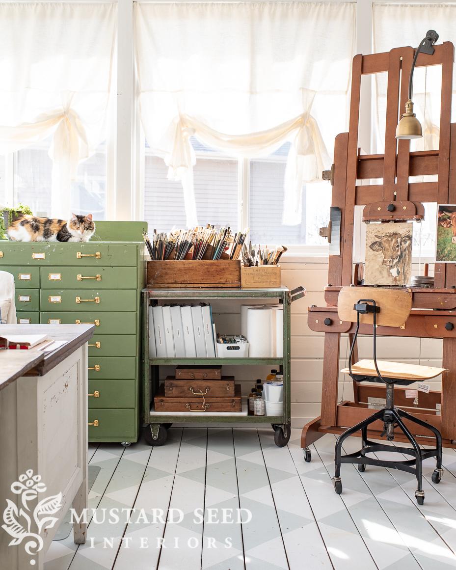 organizing the art studio   miss mustard seed