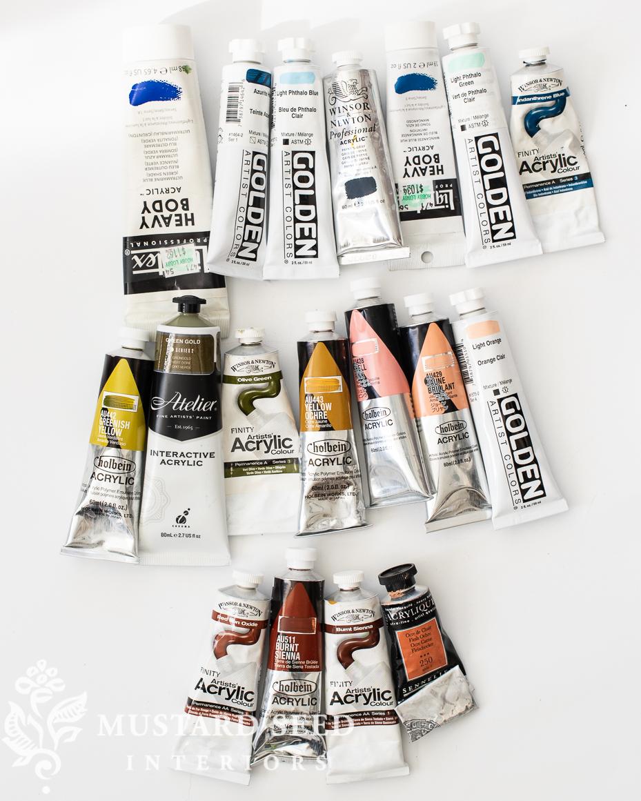 used art supply sale   acrylic lot   miss mustard seed