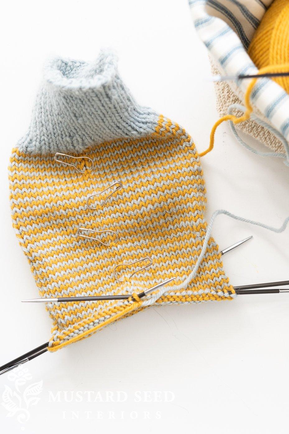 knitting socks | miss mustard seed