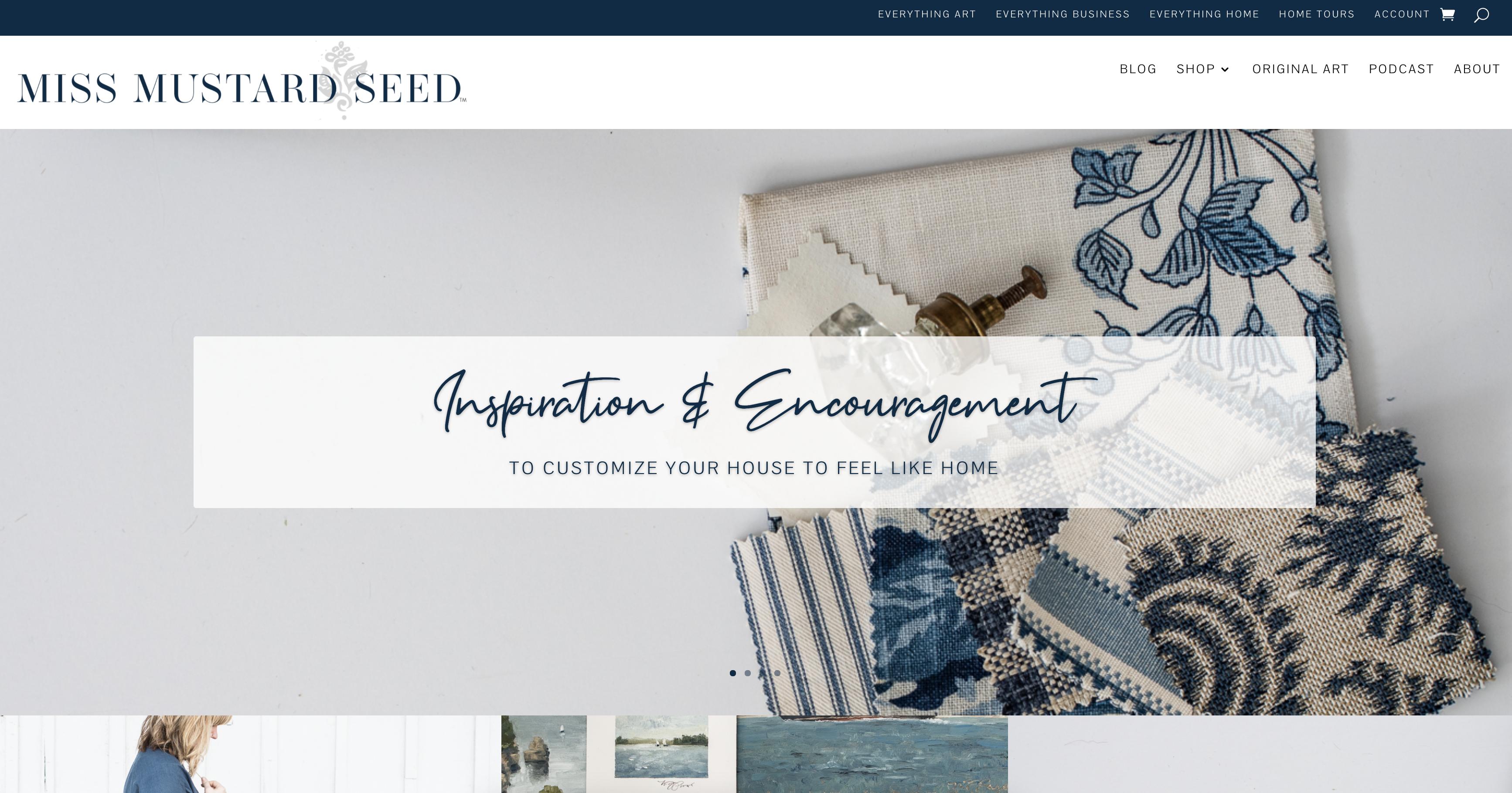 new website design | bliss & tell branding | miss mustard seed