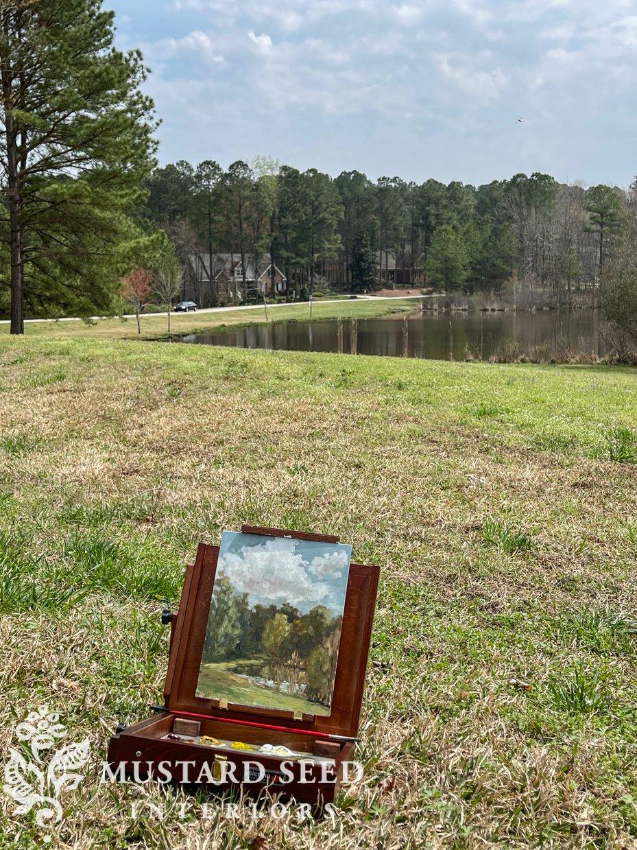 plein air oil painting | miss mustard seed