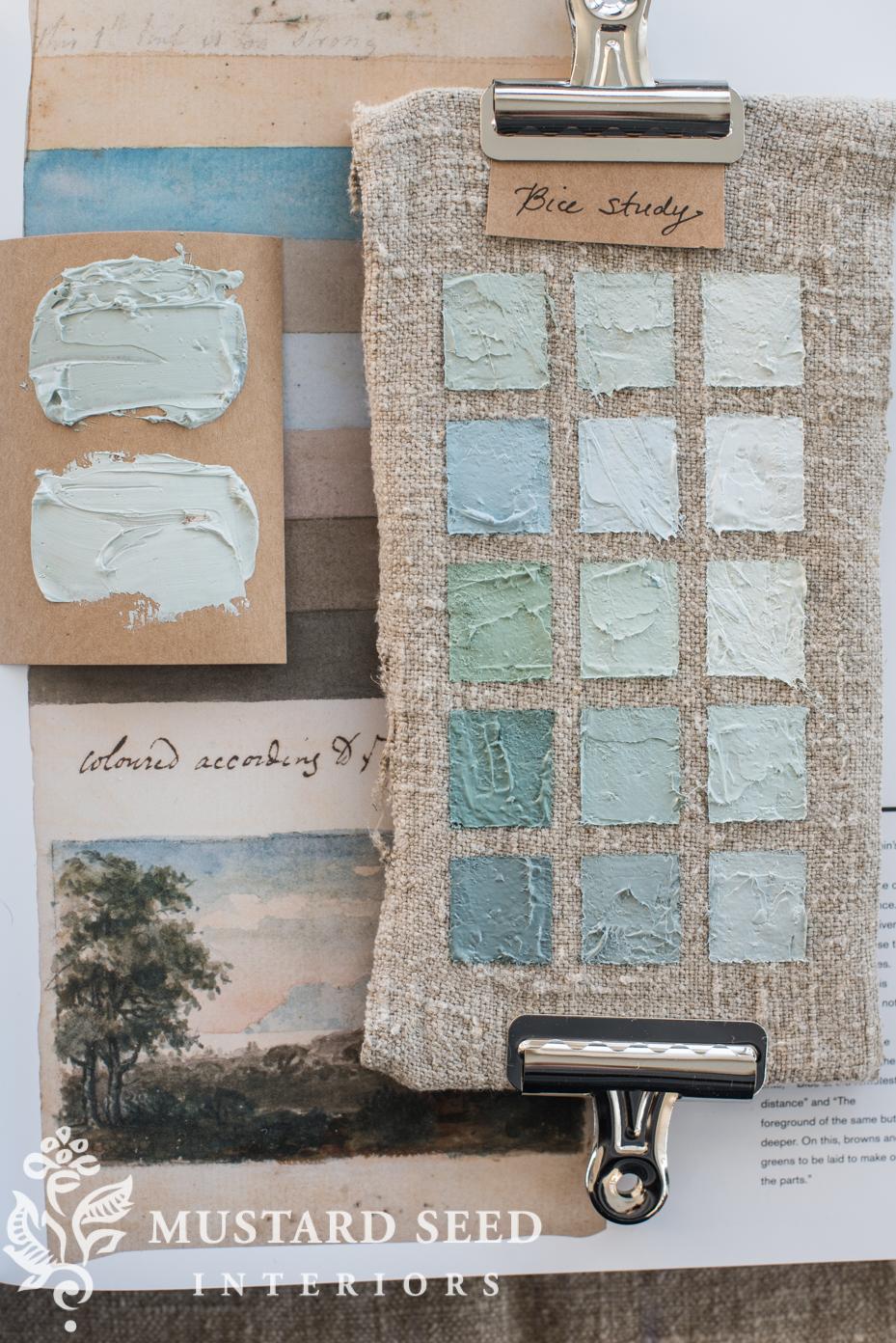 color study on linen in oil paint   vasari bice   miss mustard seed