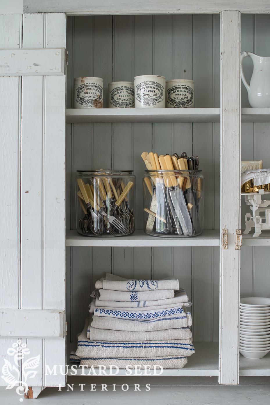 antique furniture   milk paint farmhouse hutch   miss mustard seed