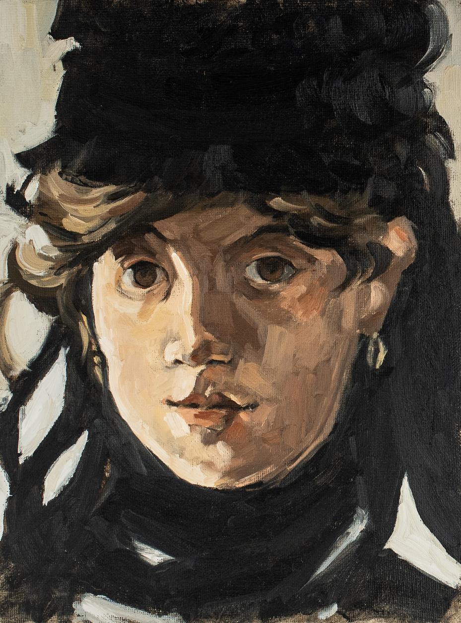 manet | berte morisot portrait study | original oil painting | marian parsons | miss mustard seed