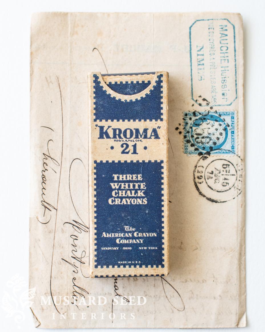 vintage kroma white chalk box | miss mustard seed