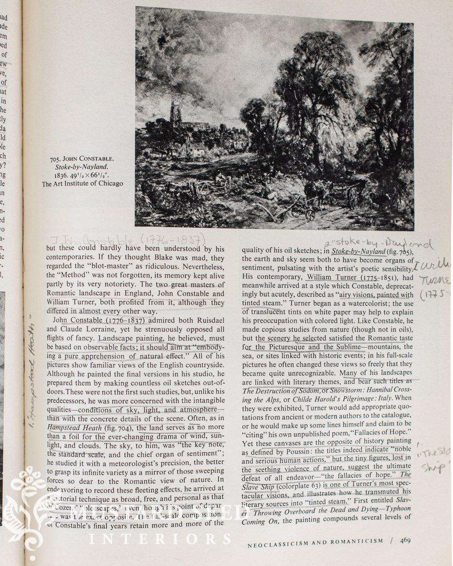 vintage history of art book | miss mustard seed
