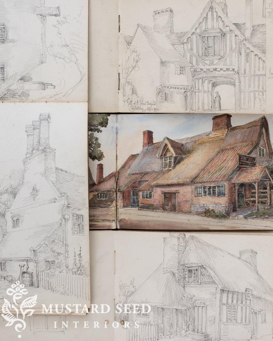 antique sketchbooks   george herbert kitchin   copyright   miss mustard seed